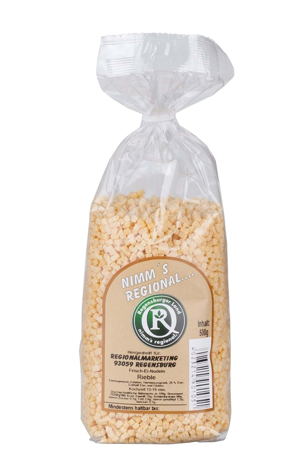 Art.-Nr. 90105  Rieble - Suppeneinlage 500 g Beutel 2,69 Euro