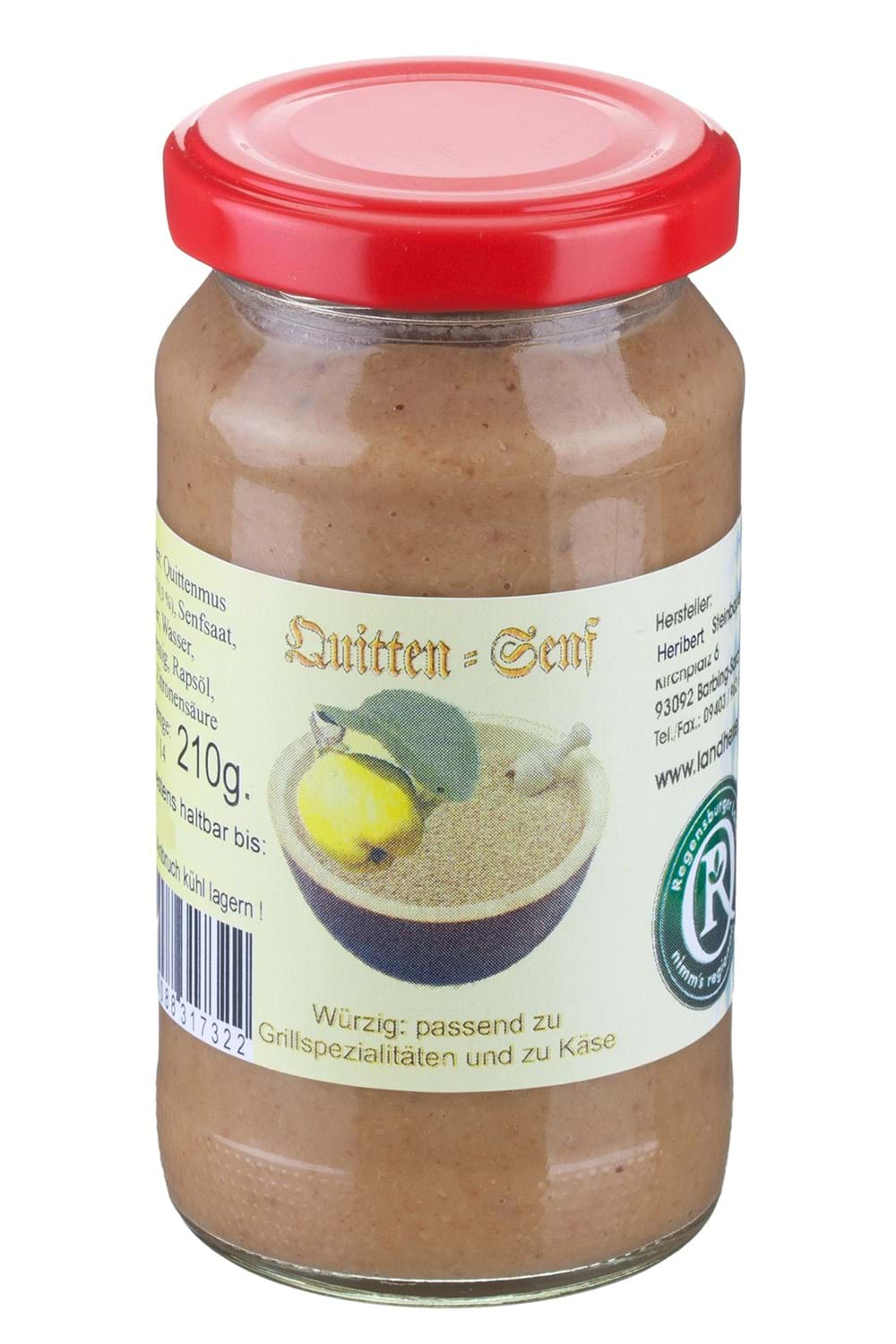 Art.-Nr. 732  Quitten-Senf 200 ml Glas 1,89 Euro